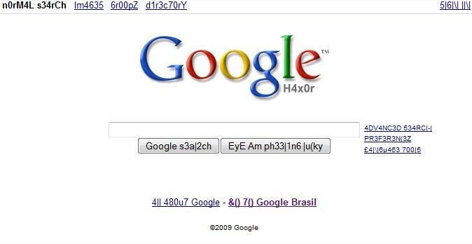 Até o Google entrou na onda do leet.