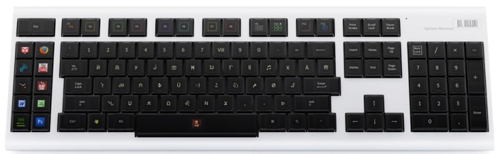 O Optimus Maximus Keyboard e suas teclas OLED.