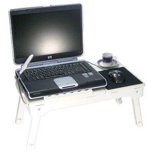 Mesa para notebook com 4 portas USB