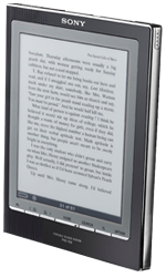 O Sony PRS, grande concorrente do Kindle.