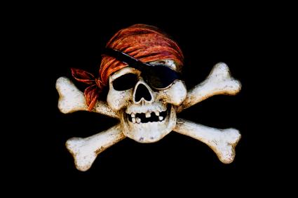 Contra a pirataria.