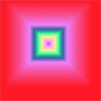 Exemplo de degradê quadrado