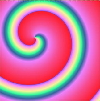 Exemplo de espiral em sentido horário