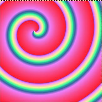 Exemplo de espiral em sentido anti-horário