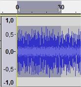Selecione o trecho do áudio