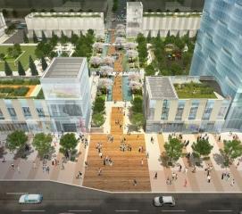 Simulação do parque central de Songdo.