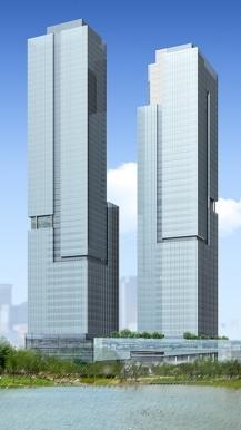 Projeção do Daeduk Office, prédio comercial.