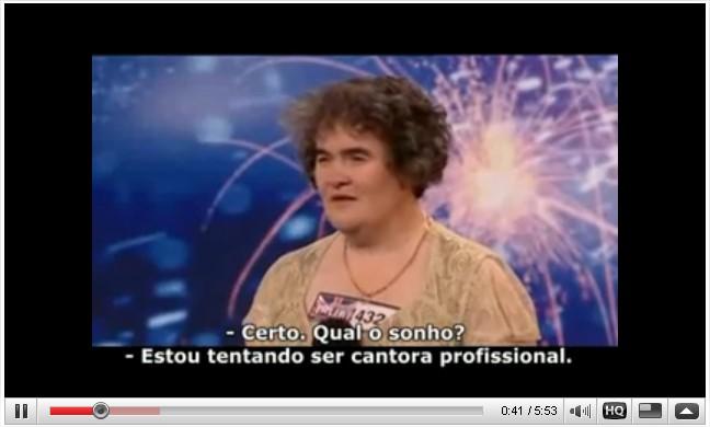 Clique aqui para assitir ao vídeo de Susan Boyle