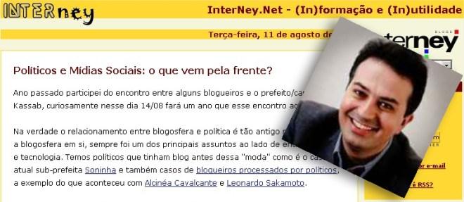 O blogueiro Edney Souza já teve milhões de acessos no seu blog