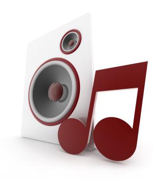 Deixe as caixas de som bem posicionadas para melhorar a qualidade do áudio.
