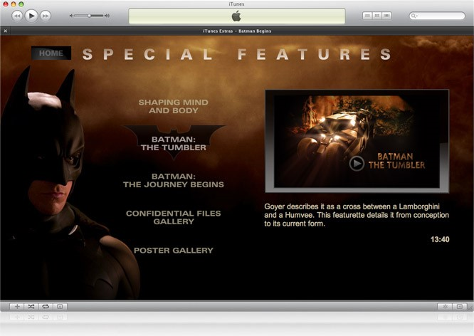 iTunes com mais conteúdo