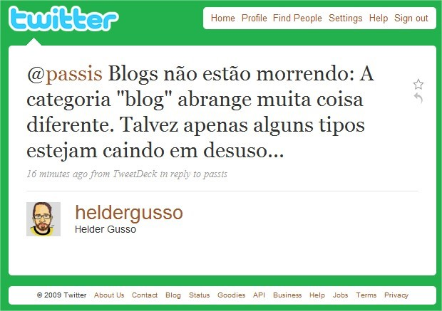 Será que os blog pessoais estão dando espaço para os blogs corporativos?