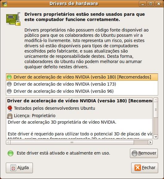 Adicionar hardware restrito no Ubuntu