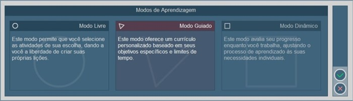 Modos de aprendizagem do software