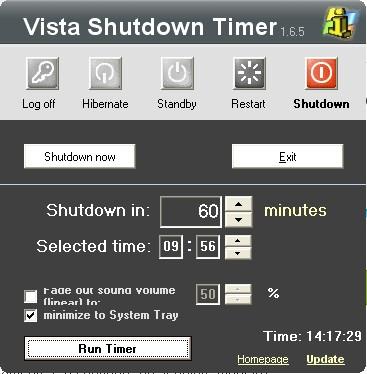 Vista - Shutdown Timer