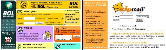 Layouts do BOL e ZipMail