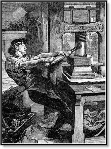 A prensa de tipos móveis revolucionou a escrita!