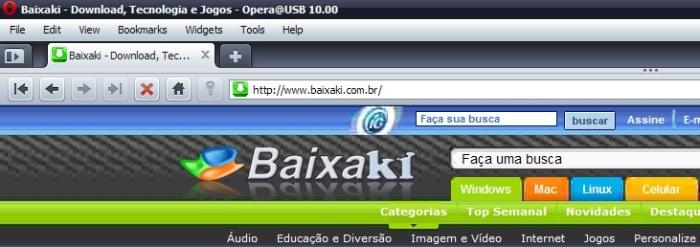 Navegador Opera portátil