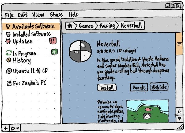 Ubuntu Software Store - projeto para o futuro.