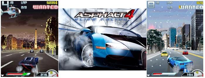 Demonstração do jogo Asphalt 4