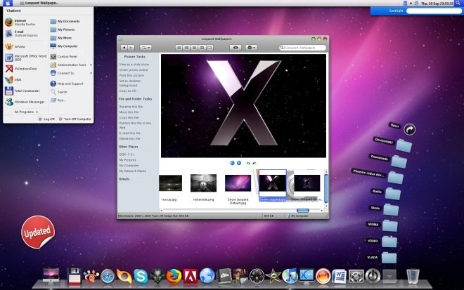 Deixe o Windows XP com a cara do Mac OS X Leopard!