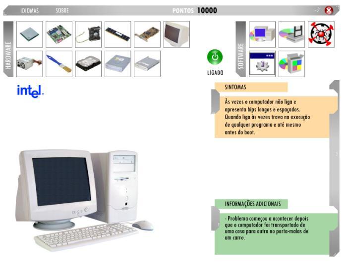 Brinque de técnico e conserte o problema dos computadores!