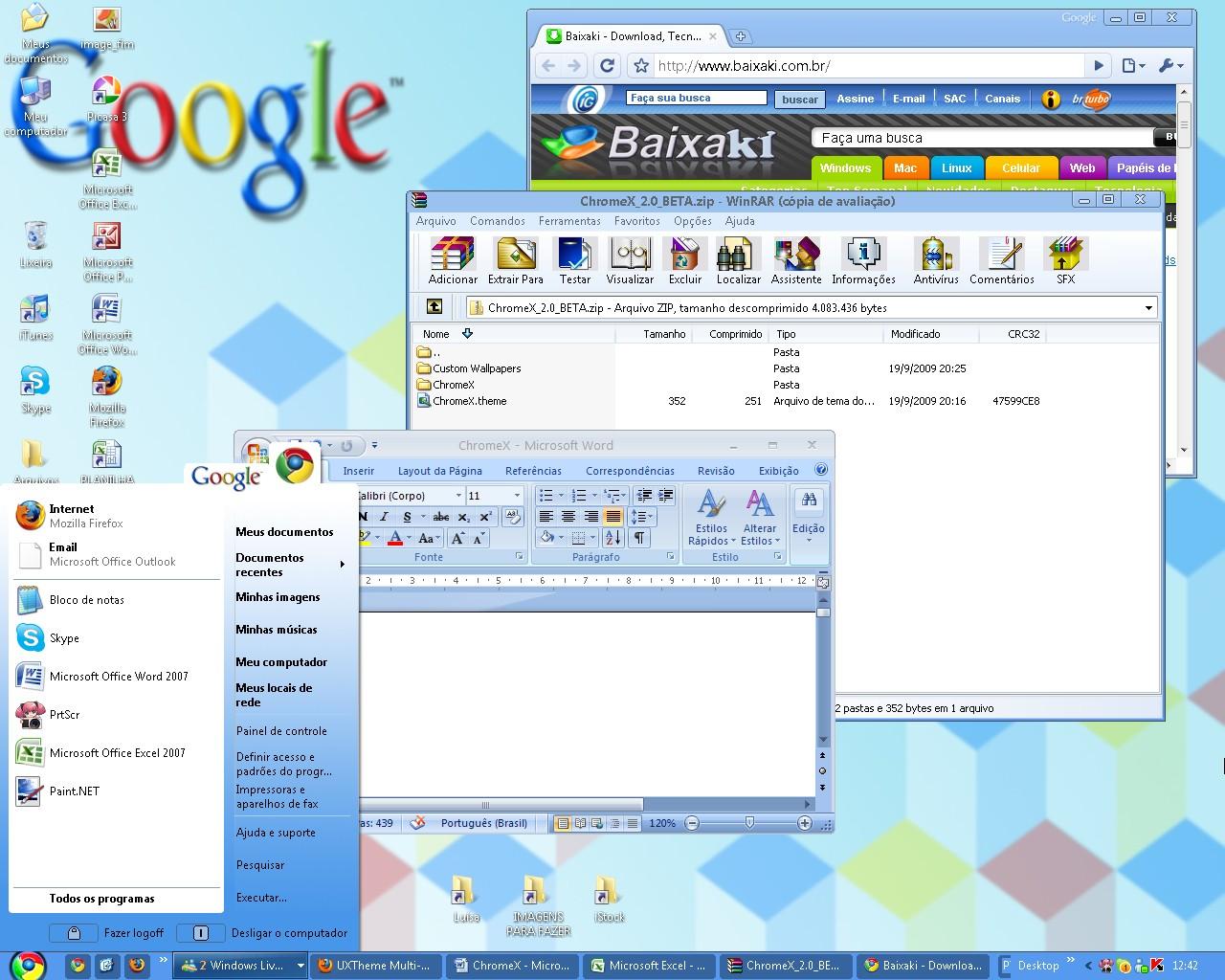 Dê um toque Google para a tela do Windows