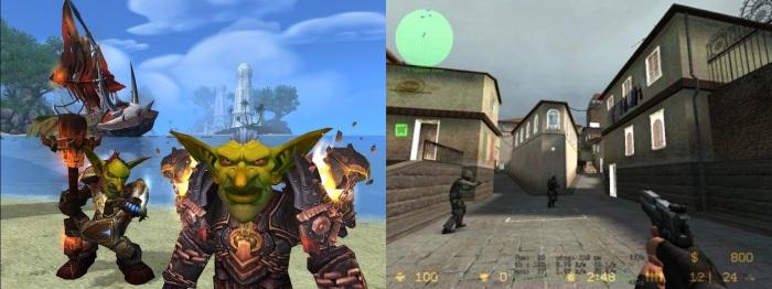 WoW e  CS: dois grandes sucessos no mundo online.