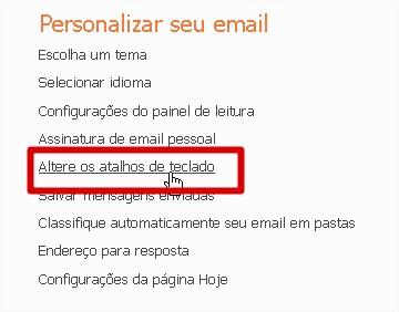 Clique nesta opção para configurar seu Hotmail
