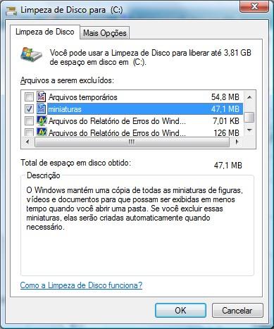 Limpeza geral no disco pode melhorar o desempenho do computador.