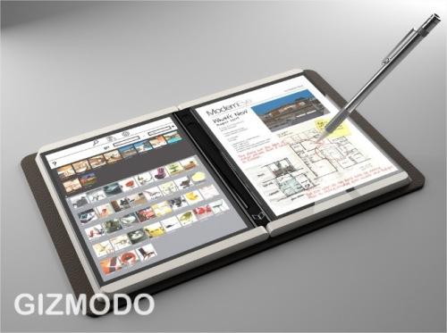 O booklet da Microsoft, em imagem retirada do blog de tecnologia Gizmodo