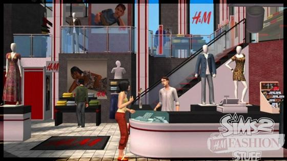 The Sims 2 H&M Coleção de Objetos.