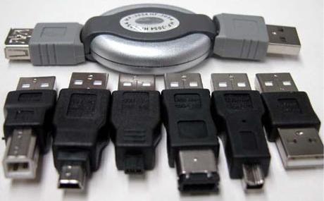 Um kit USB para diversas finalidades.