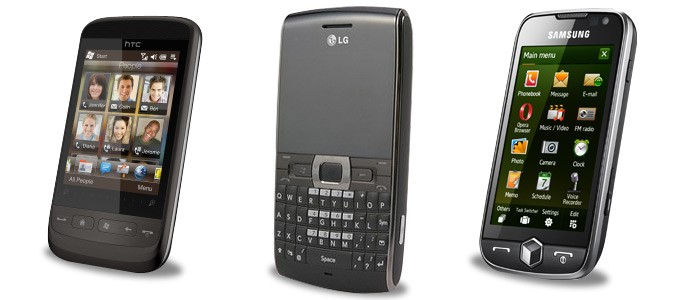 HTC Touch 2, LG GW550 e Samsung Omnia II!