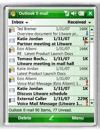 A mesma praticidade do Outlook para PC no celular