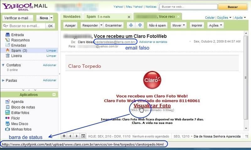 Veja os erros comuns em emails falsos.