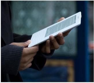 Kindle pinstando na área