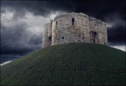 Cores do castelo ajustadas por curvas