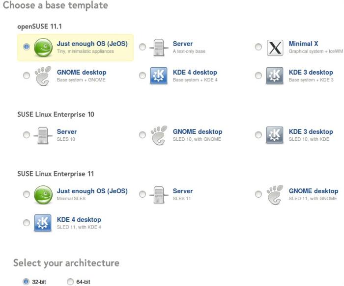 Escolha do gerenciador de ambiente gráfico e plataforma