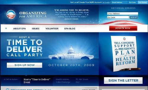 Site oficial da campanha de Barack Obama (clique para acessar)