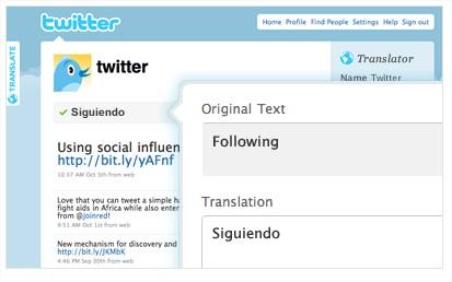 Página traduzida para o Espanhol