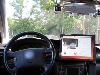 Carro equipado com o software DRIVSCO