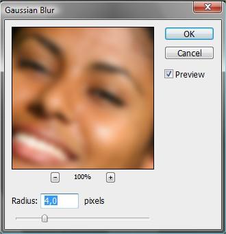Adicione o Gaussian Blur