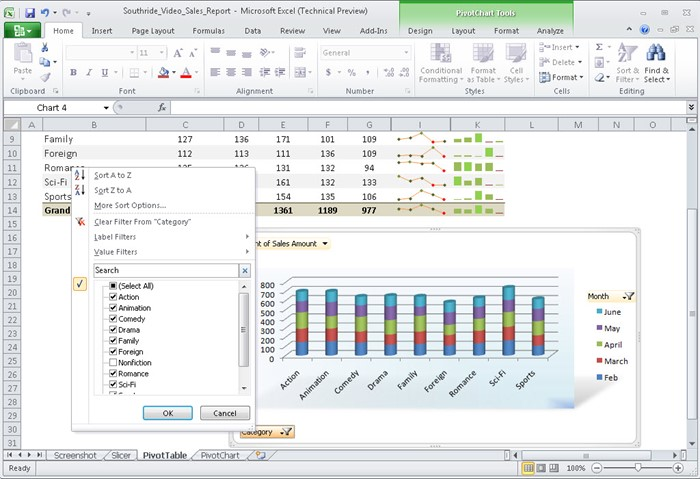 Nova interface do Microsoft Excel 2010