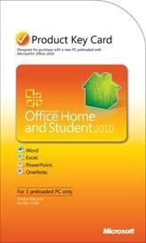 Cartão de atualização do pacote Office 2010