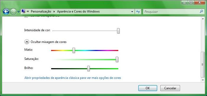 Altere as configurações de aparência no Vista para deixá-lo verdão!