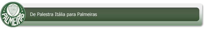 De Palestra Itália a Palmeiras