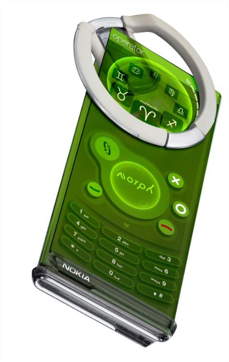 A idéia do Nokia Morph é ir além dos dispositivos móveis, como o celular.