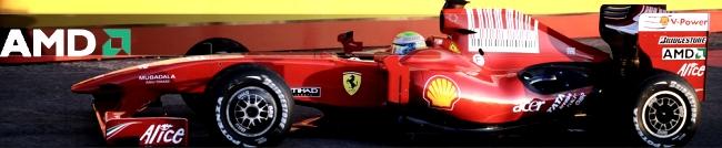 AMD presente nos carros da Ferrari