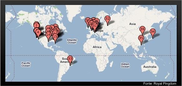 Datacenters Google espalhados pelo mundo